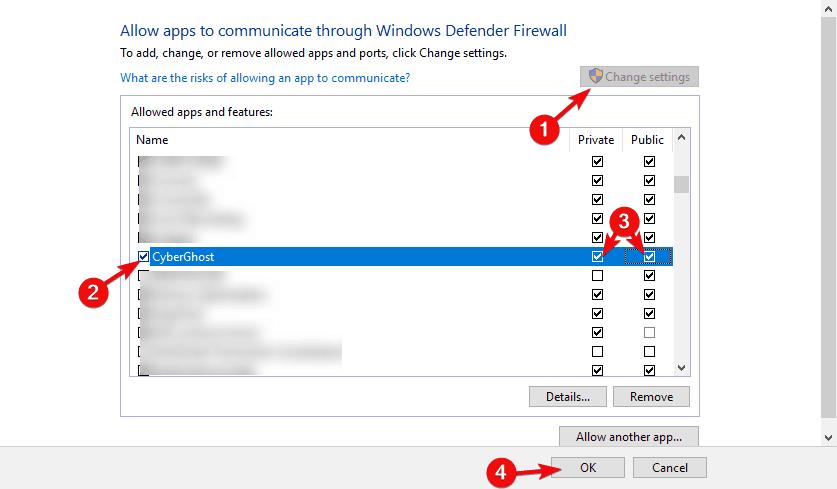 windows 10 vpn ne fonctionne pas après la mise à jour