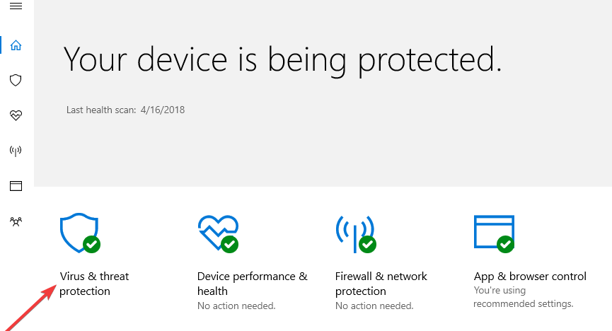 protection antivirus windows defender