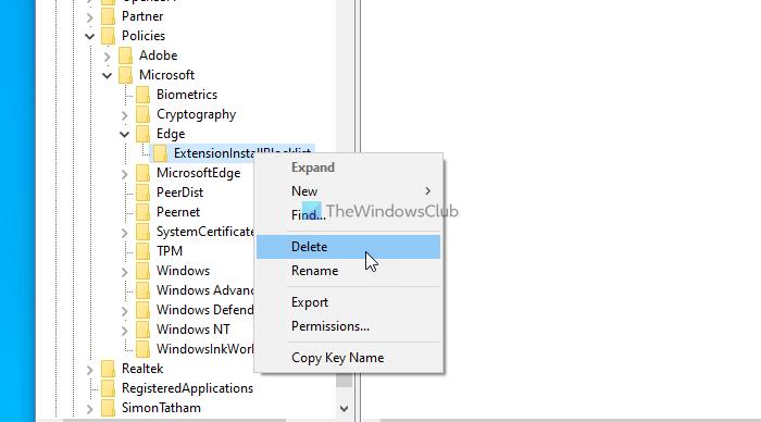 Impossible d'activer, de désactiver les extensions Edge, votre administrateur a bloqué