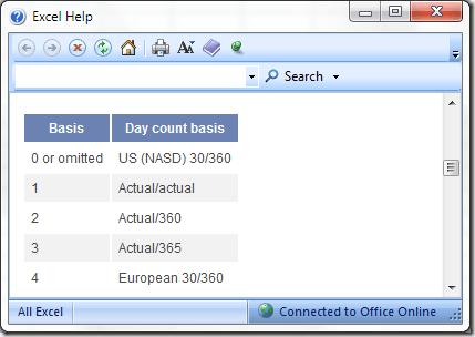 Aide Excel avec la fonction YEARFRAC