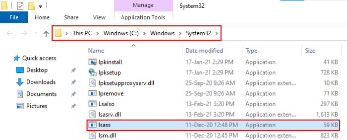 Processus Lsass.exe sous Windows 10_4