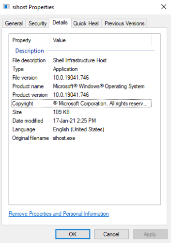 Processus Sihost.exe sous Windows 10_3