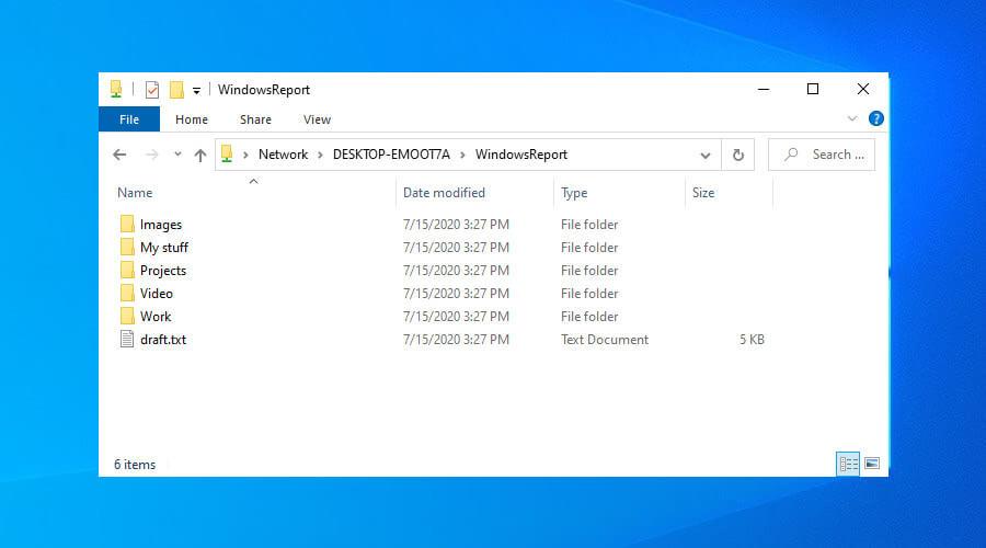 Accéder aux fichiers partagés sur Windows 10 via VPN