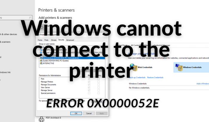 Windows ne peut pas se connecter à l'imprimante (1)