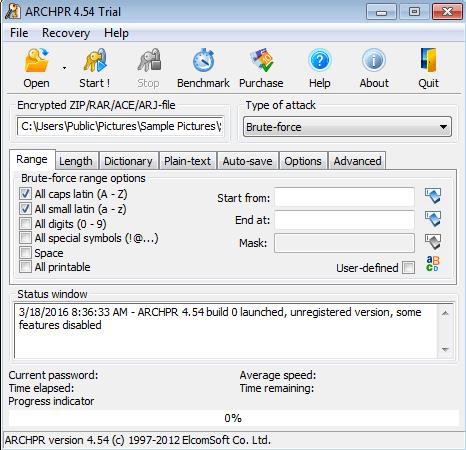 récupération du mot de passe d'archivage