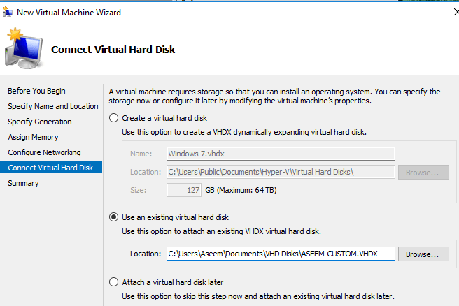 connecter un disque dur virtuel