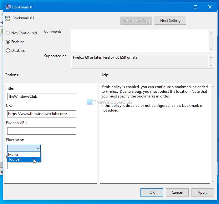 Comment créer des signets Firefox à l'aide de la stratégie de groupe