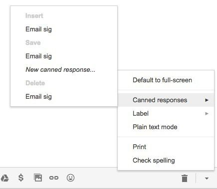 réponse standardisée de signature d'e-mail