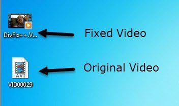 fichier vidéo fixe