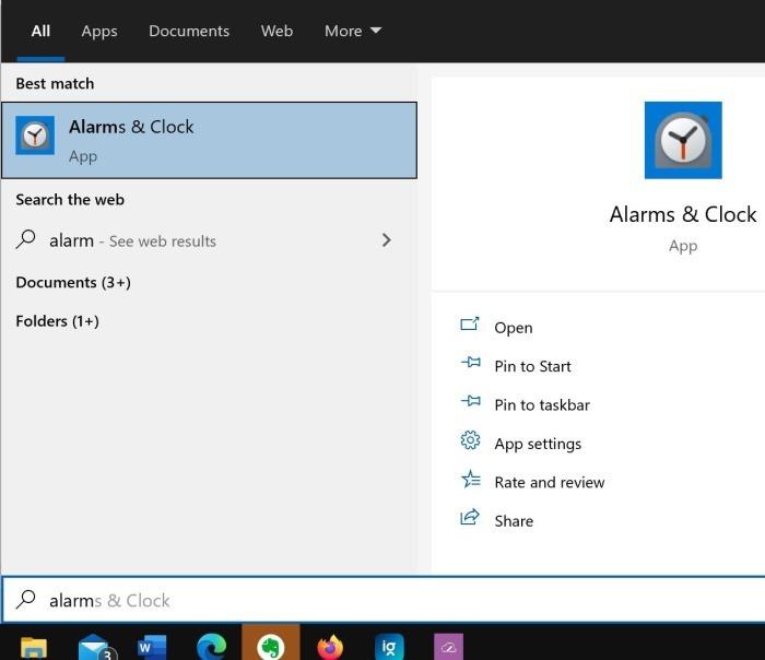 comment utiliser les alarmes dans Windows 10 pic01