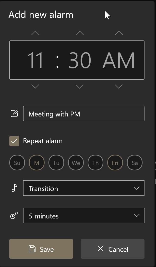 comment utiliser les alarmes dans Windows 10 pic4