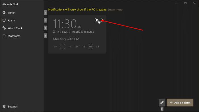 comment utiliser les alarmes dans Windows 10 pic5
