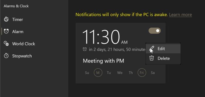 comment utiliser les alarmes dans Windows 10 pic6