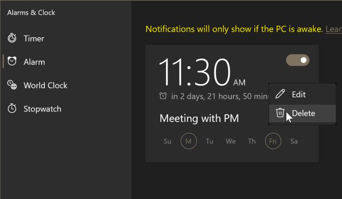 comment utiliser les alarmes dans Windows 10 pic7