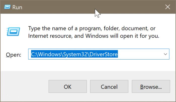 emplacement des pilotes dans Windows 10 pic2