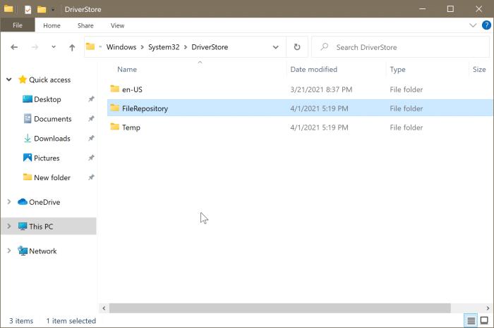 emplacement des pilotes dans Windows 10 pic3