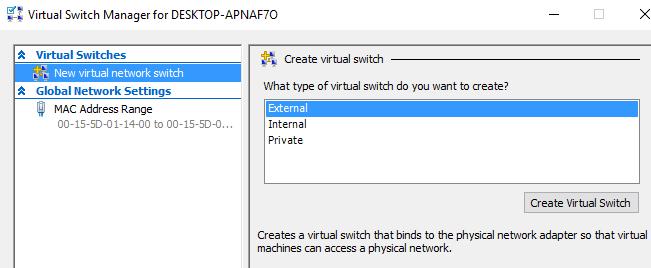 nouveau commutateur virtuel