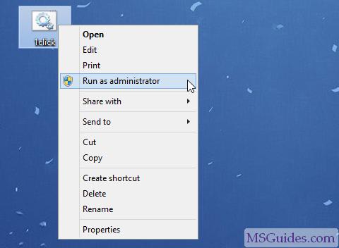 Exécutez le script batch en mode administrateur