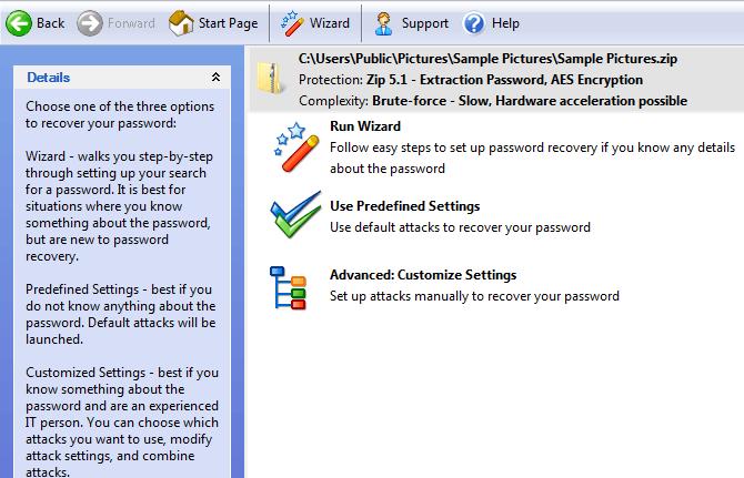 récupération du mot de passe du passware