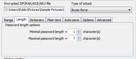 longueur du mot de passe