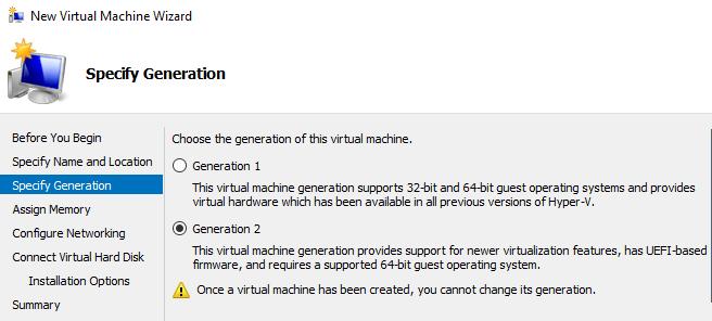 génération de machine virtuelle