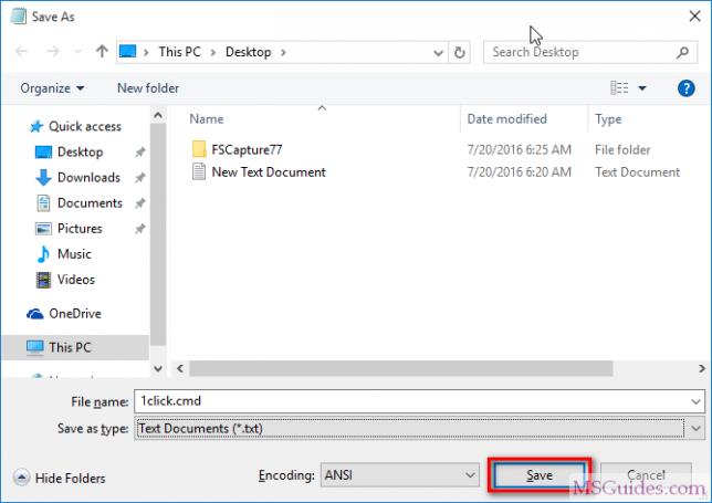 Définir le nom du fichier de commandes