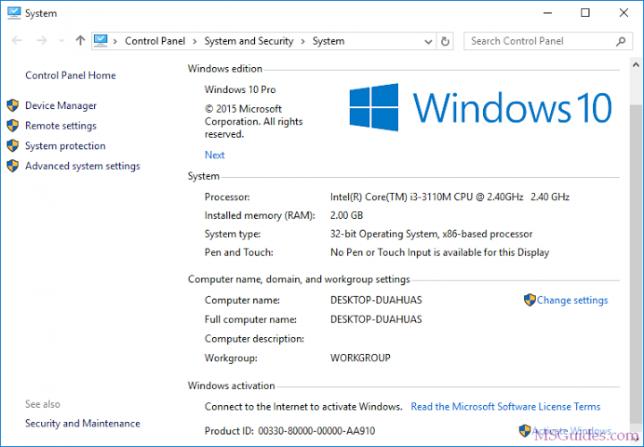 Windows 10 n'est pas activé