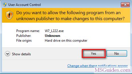 contourner le message d'alerte du système de contrôle de compte utilisateur