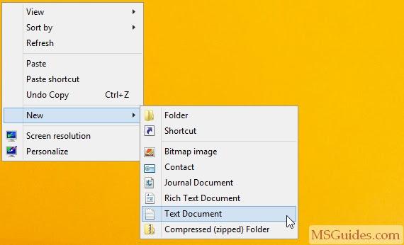 Créer un nouveau fichier texte