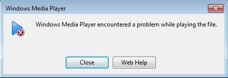 wmp a rencontré un problème