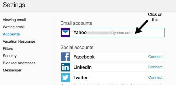comptes de messagerie Yahoo