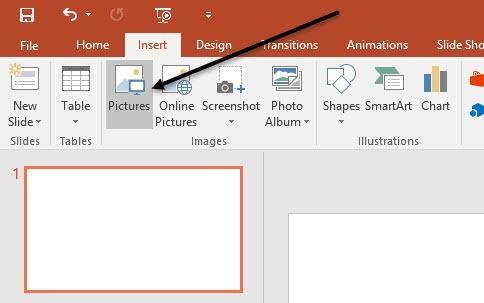 insérer une image powerpoint