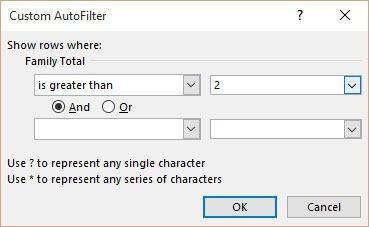 est supérieur au filtre