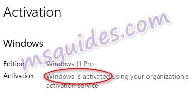 Windows 11 est activé avec succès